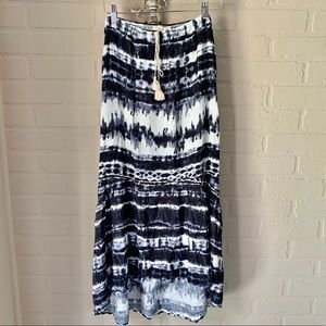 Lovestich tie dye high low maxi skirt NWT medium
